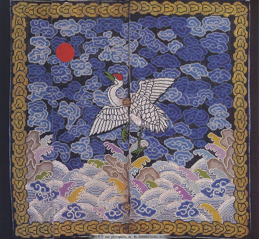 中国传统刺绣纹样 高清官服 补子图片