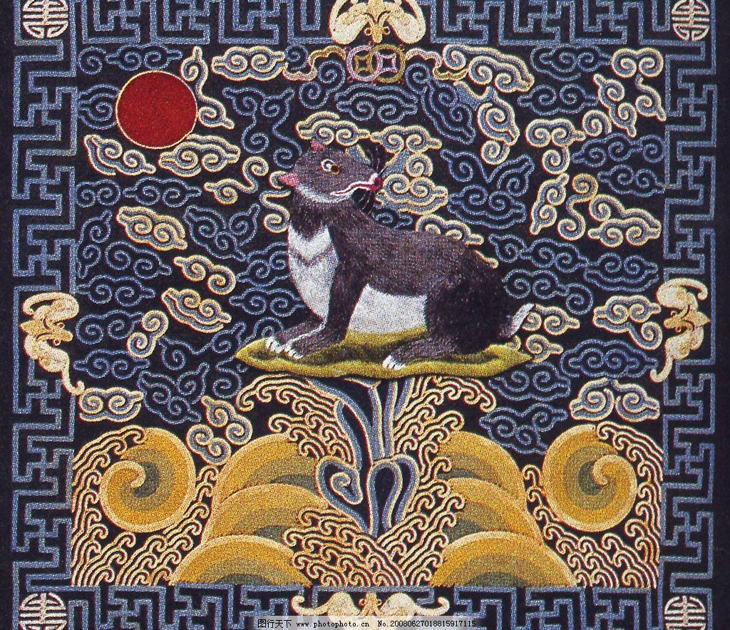 中国传统刺绣纹样 高清官服 补子 花纹 花边 文化艺术 传统文化 摄影
