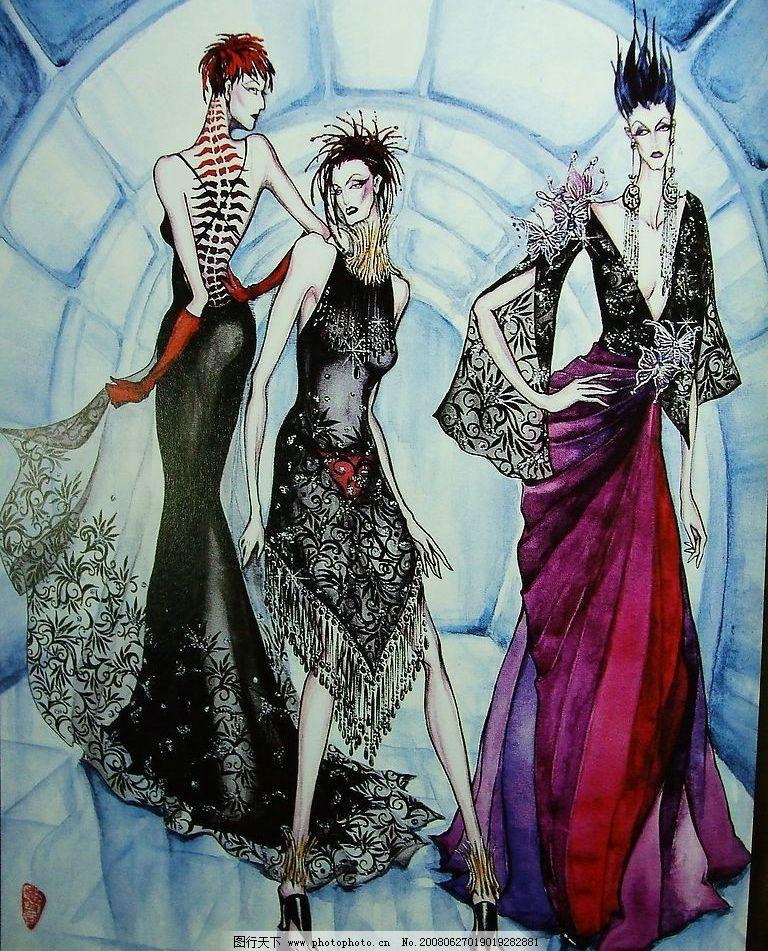 手绘服装画 手绘 服装画